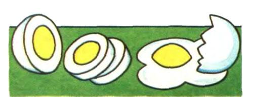 Сырое и вареное яйца
