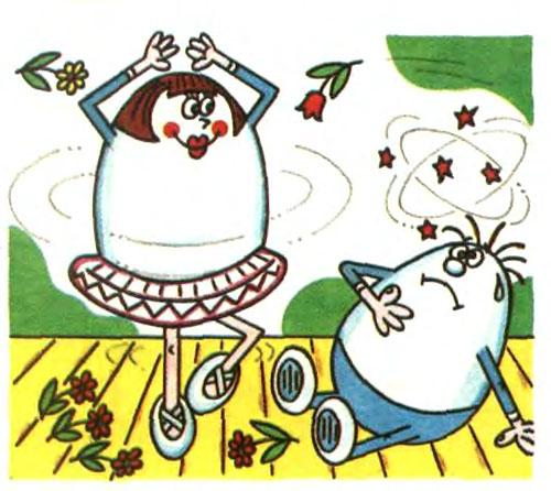 Как вращаются сырое и вареное яйца