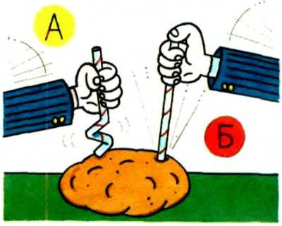 Опыт с протыканием картофелины соломинкой