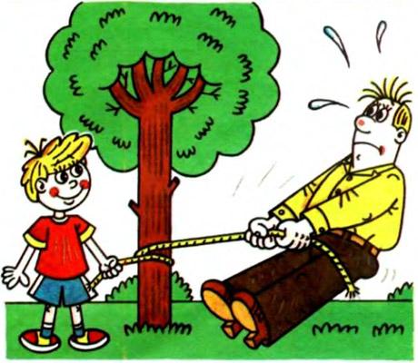 Опыт с веревкой