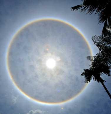 Сферическая радуга вокруг солнца