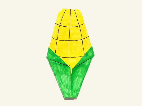 Оригами кукуруза