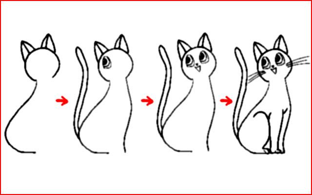 15 способов нарисовать кошку