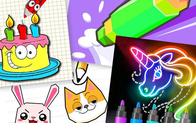 Онлайн игры - рисовалки