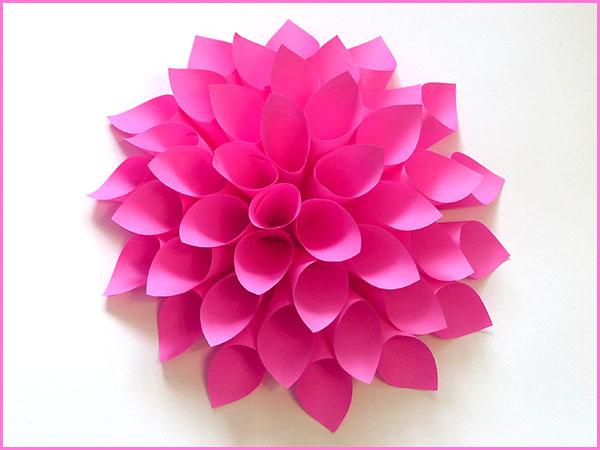 Цветы из бумажных кульков
