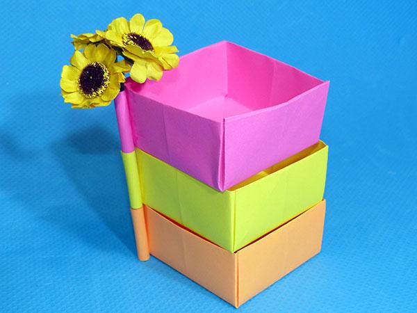 Органайзер из коробочек-оригами
