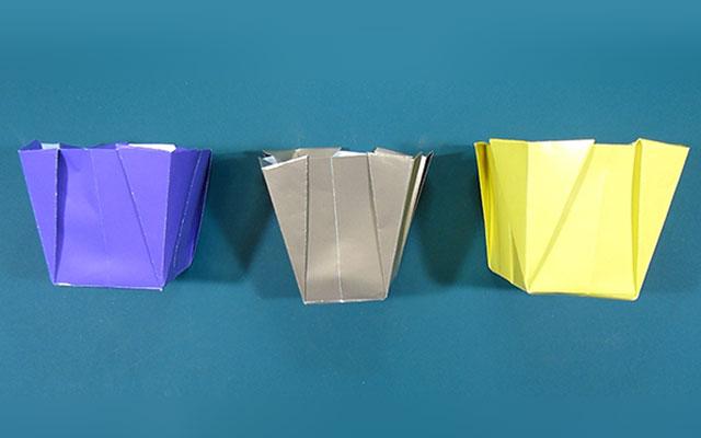 Оригами ваза-ведёрко