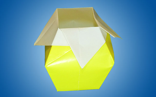 Оригами вазочка
