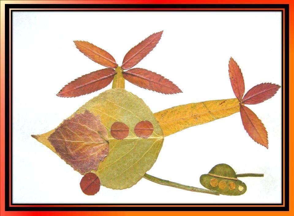 картинки композиции из сухих листьев поэтапно господне праздник, который