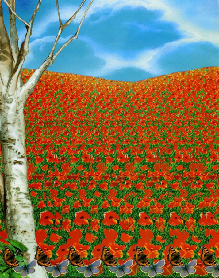 Картинки стерео с цветами самые